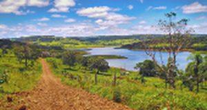 landschap met meer